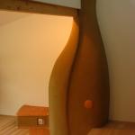 gemauerter Lehmofen -  handwerklicher Speicherofen