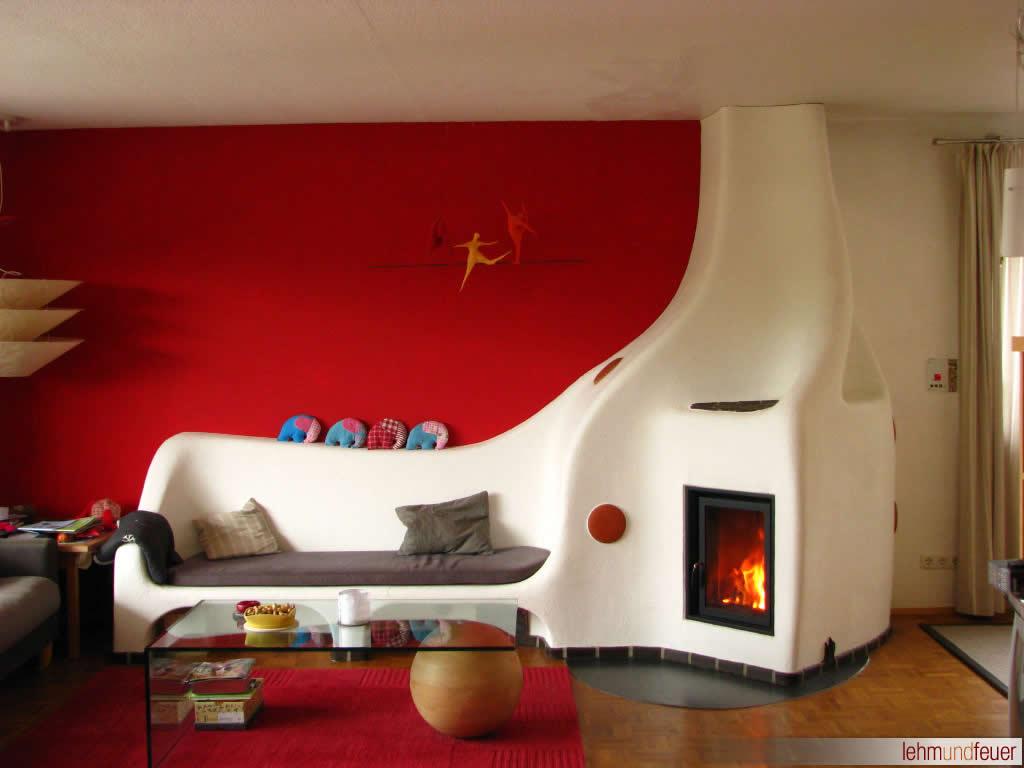 gemauerter Lehmofen – handwerklicher Speicherofen : Lehm und Feuer